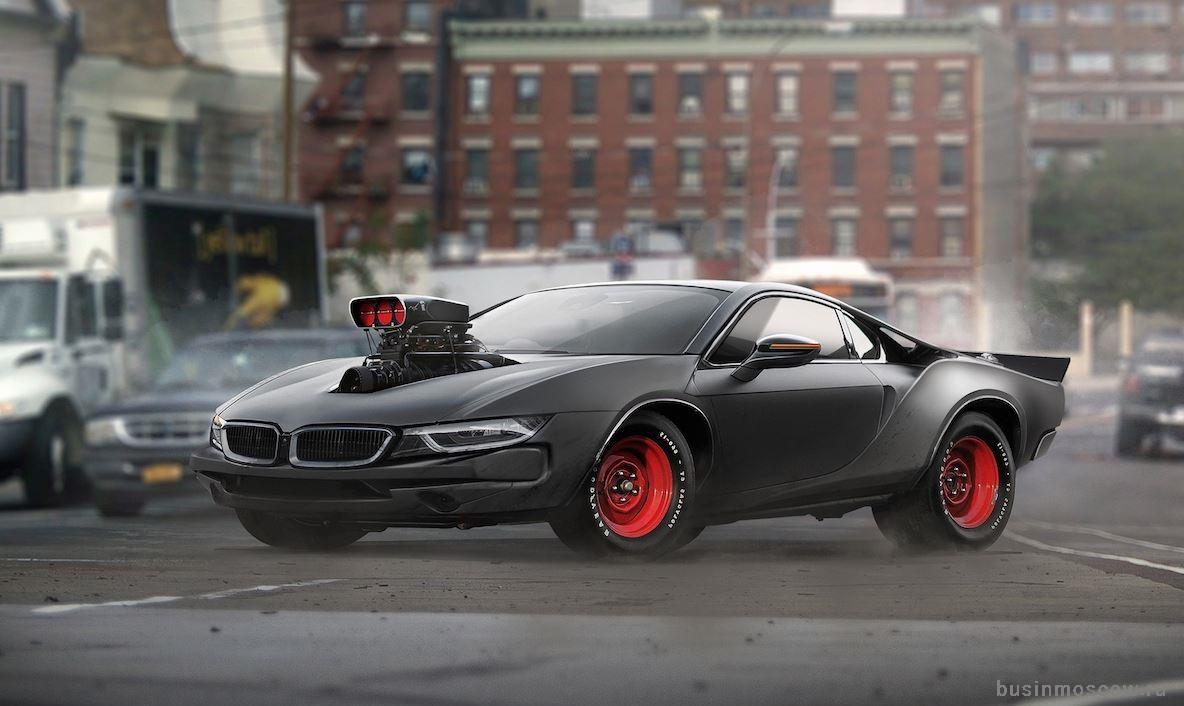 тюнинг BMW i8 с двигателем Hellcat