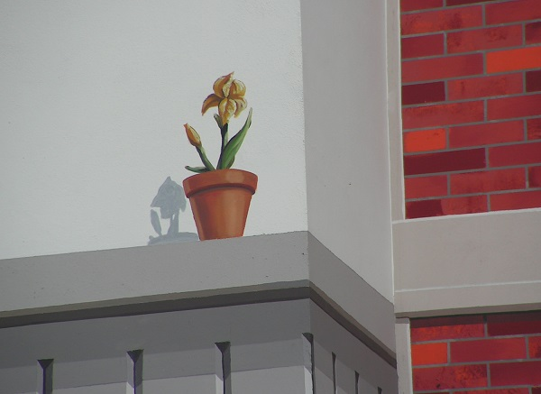 креативное мышление рисунок на фасаде