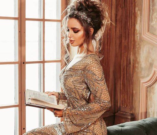 AllaCouture вечернее платье со шлейфом